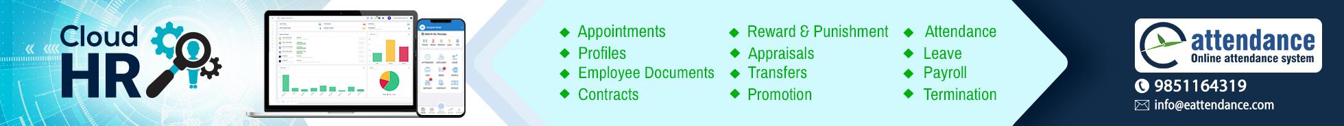 Online attendance, leave, payroll system & HR system